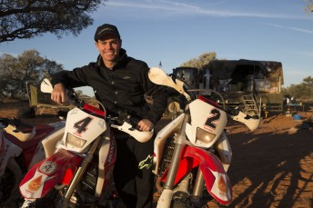 Craig Lowndes with the DB Adventures Hondas