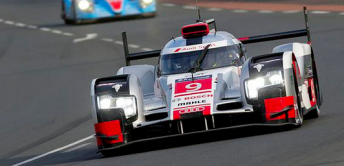 Audi has claimed the top three fastest times in the morning warm up ahead of the Le Mans 24 Hour classic