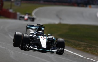 Lewis Hamilton will start Sunday's British Grand Prix from pole position