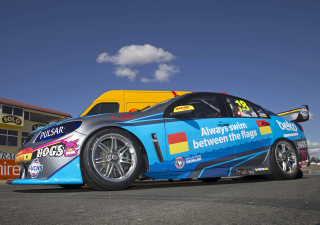 Lee Holdsworth's Holden on the grid at Ipswich