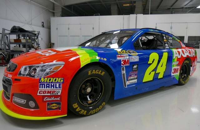 Jeff Gordon Chevrolet >> Rainbow Warrior Colours Return For Jeff Gordon Speedcafe