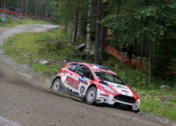 Scott Pedder sits sixth in the WRC2 division