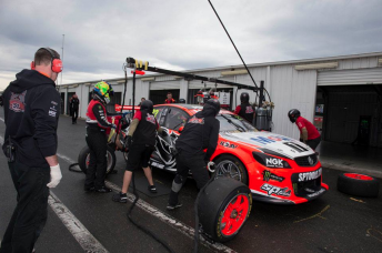 All four Walkinshaw Holdens were in action during the day