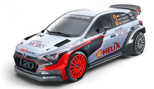 The all new Hyundai i20 WRC car