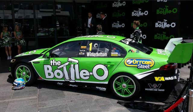Winterbottom's new car, complete with green wheels