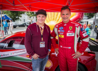 Mika Salo and Toni Vilander (right) will be reunited at the Bathurst 12 Hour