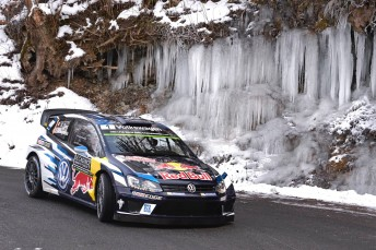 Ogier got down to business on the first full day of the 2016 WRC season