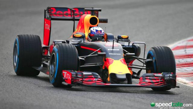 Daniel Ricciardo gave the Red Bull RB12 its first laps