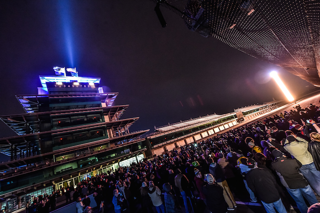 Thousands of fans turn out for the 100 day countdown at Indianapolis Motor Speedway