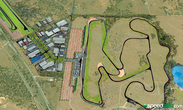 The planned SA Motorsport Park circuit at Tailem Bend
