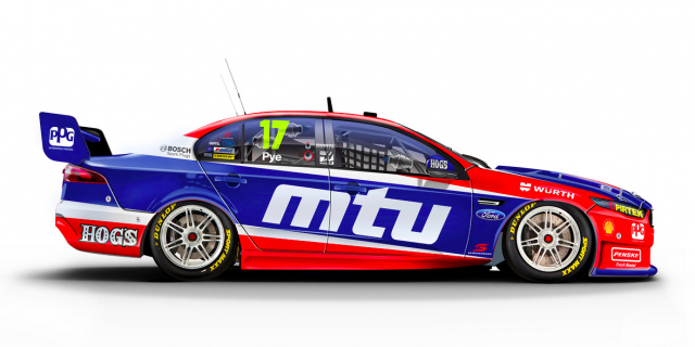 Both cars will run the blue and red scheme