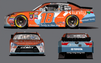 The colours that Kelly's Toyota will carry at Mid-Ohio