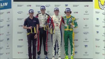 Alex Peroni (right) turned heads on his Formula Renault Eurocup debut