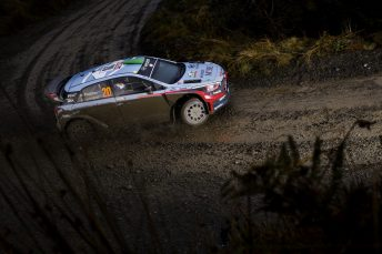 Hayden Paddon sits in fourth place