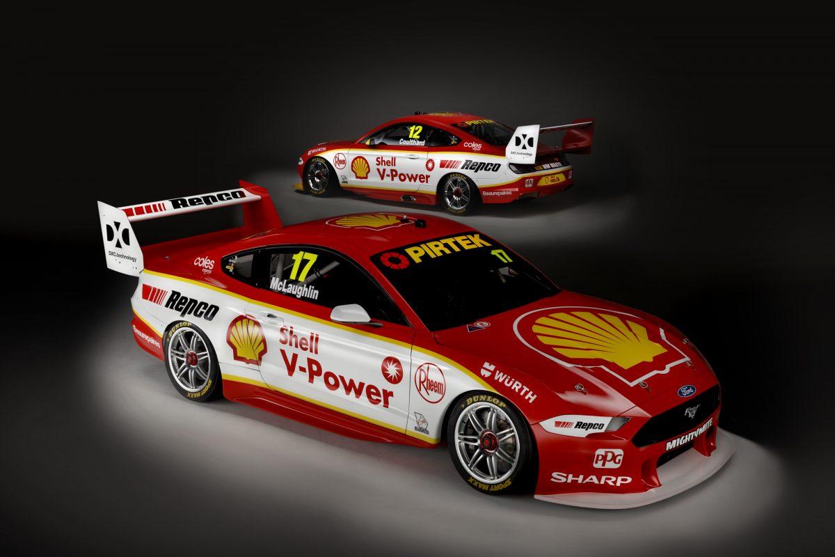 DJR Team Penske uncovers Shell Mustangs - Speedcafe