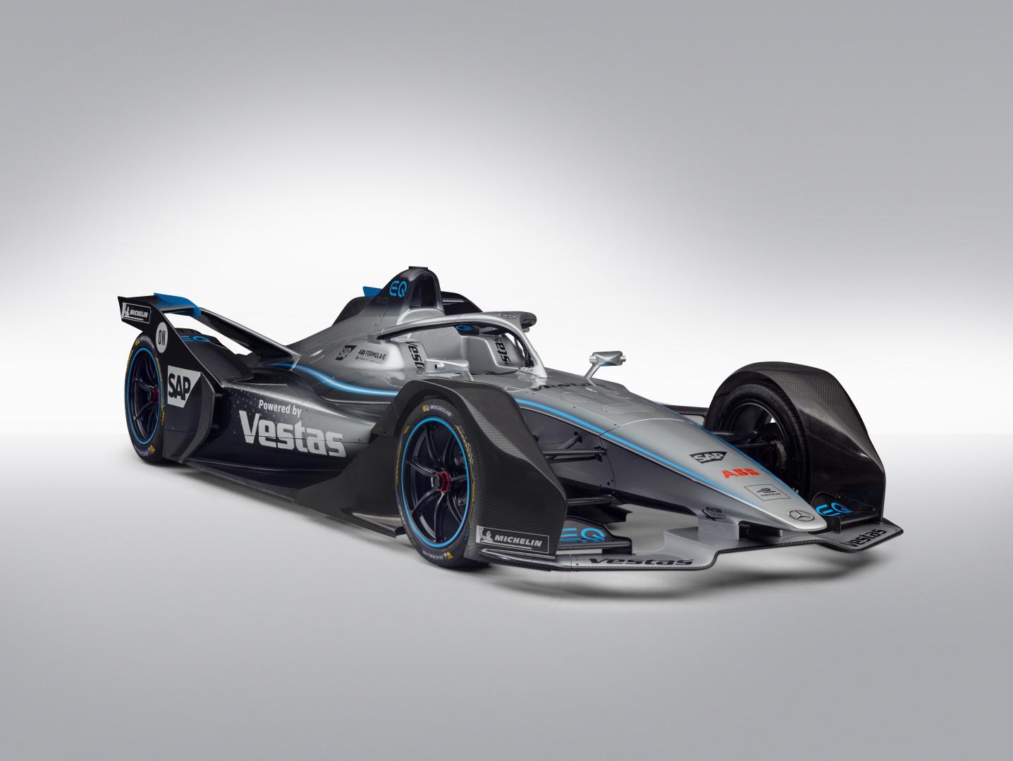 Mercedes unveils Formula E car and drivers