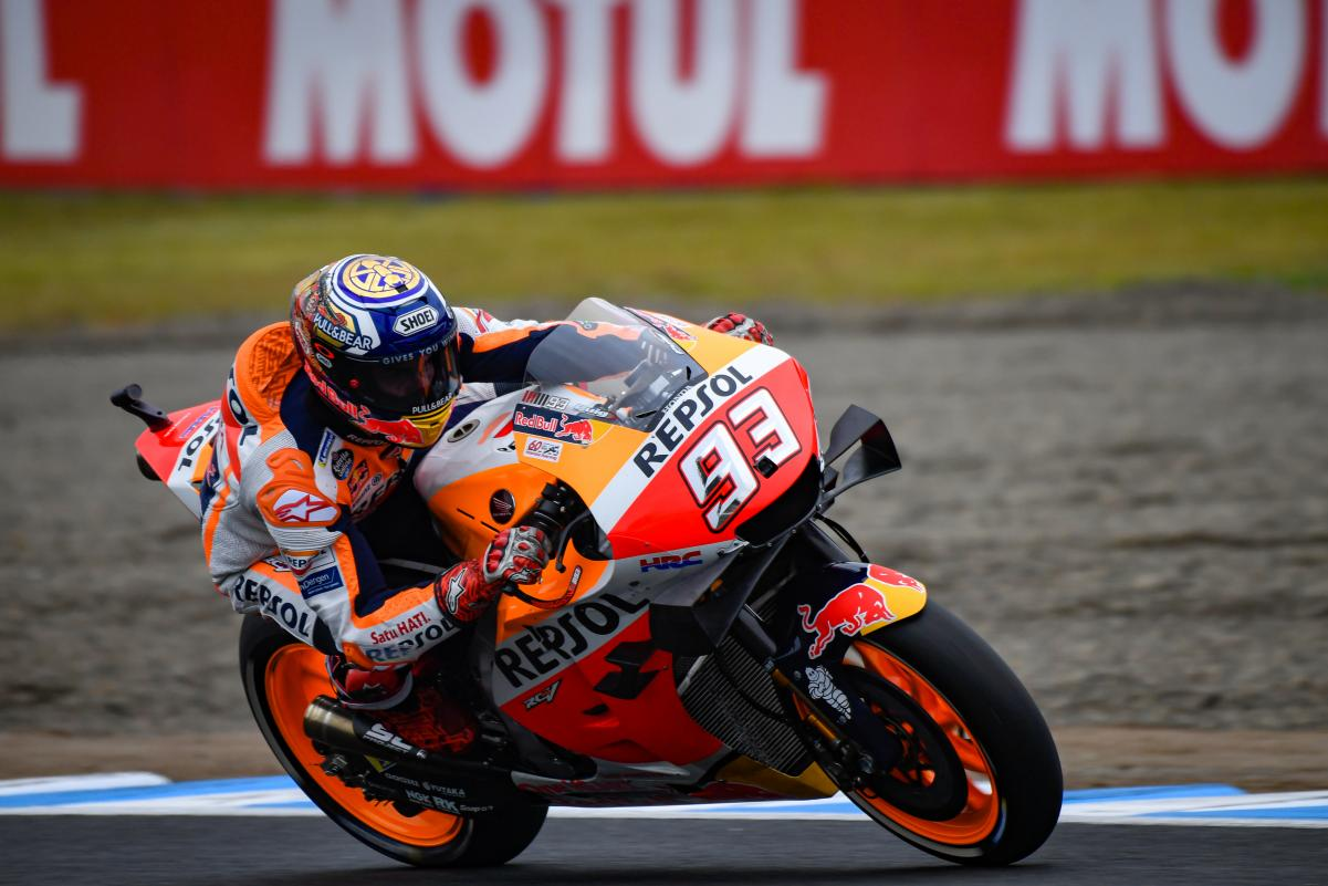 Marquez eases to Japanese MotoGP win