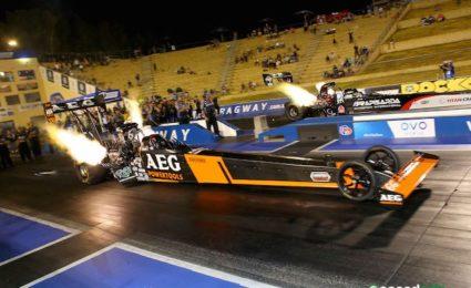 Darren Morgan took out the Top Fuel final as Rachelle Splatt endured a quiet return